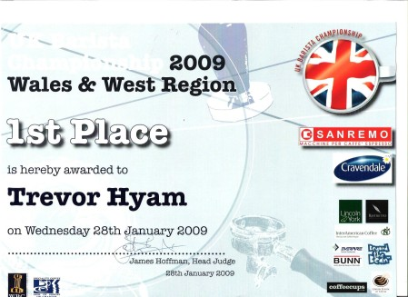 certificate 1st place 2009